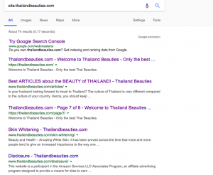 website is indexed by Google